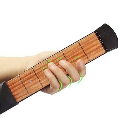 Pocket 6 String Guitar Bass Practice Tool Gadget 4 Fret Model with Bag Hot Sell