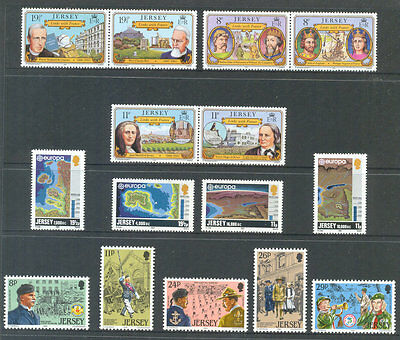 Jersey- 1982 complete year sets commemoratives mnh - excellent price