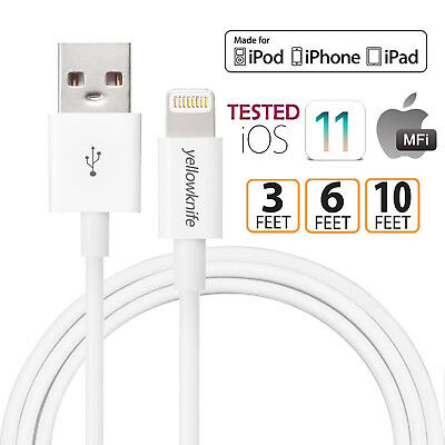 Certified Lightning Cable 3 6 10 FT MFi USB Charger for iPhone XS Max 7 6s Plus