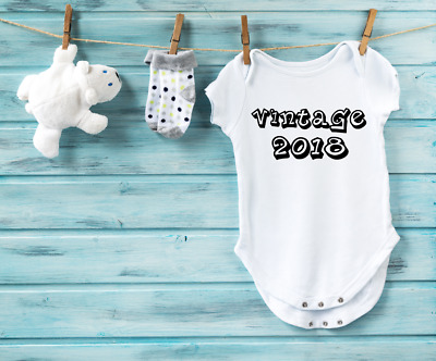 Vintage 2018 Funny/Cute Newborn Baby Vest - Various Sizes - 100% Cotton - Gift