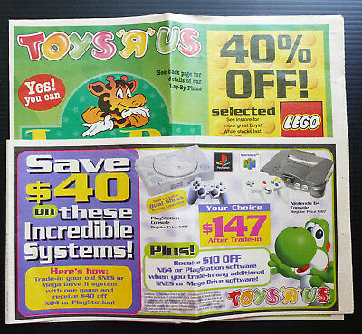 1998 vintage TOYS R US Catalogue Game Boy Godzilla TMNT Star Wars Action Man N64