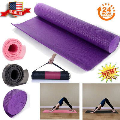 6-10mm Yoga Mat Exercise Mat Workout Fitness Pilates Non Slip Gym Cushion Pad