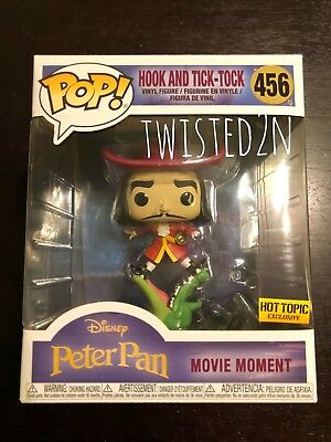 Funko POP! Hook And Tick-Tock 456 Hot Topic Peter Pan Disney Movie Moment *Boxes