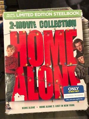 Home Alone 2 Movie Collection -  Limited Edition Steelbook BLU-RAY DISC! NEW!