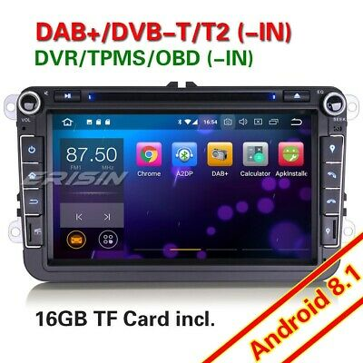 "DAB+ 8"" Android 8.1 Car Stereo For VW Caddy Golf Passat Seat Jetta Skoda Tiguan"