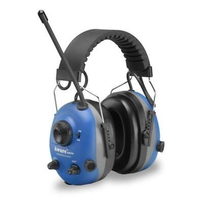 Elvex Aware Electronic Ear Muff Defenders Am Fm Radio, Intelligent Filters Blue