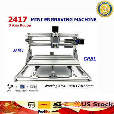 2417 3 Axis Router Metal Engraver USB GRBL PCB Milling Engraving Machine CARVER