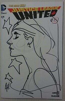 Wonder Woman ADAM HUGHES Original Art Sketch & Signed DC Justice League United 0