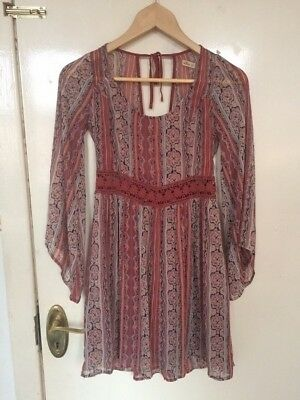 Hollister Dress S Aztec Day Casual Evening Vintage Girly