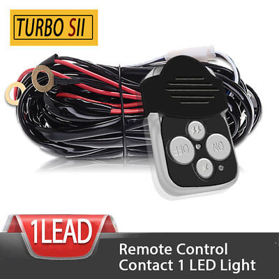 Wiring Harness Kit Remote Control Switch for under Driving Fog led Light 1 LEAD