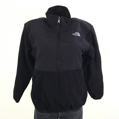 North Face Youth Black Fleece Zipper Denali Fleece Jacket XL VG DR00670
