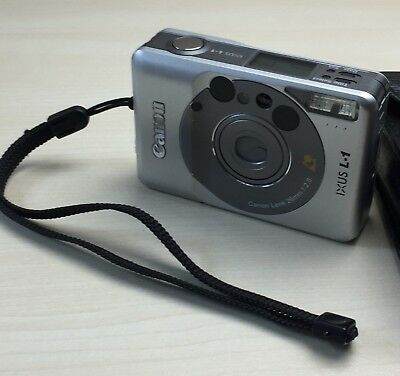 Canon Ixus L1 Aps Compact Film Camera In Silver - With Case - Fully Working