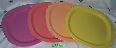 Tupperware microwaveable coloured plates