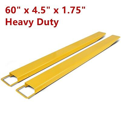 "60"" x 4.5"" Steel Pallet Fork Extensions for forklifts lift truck slide on clamp"