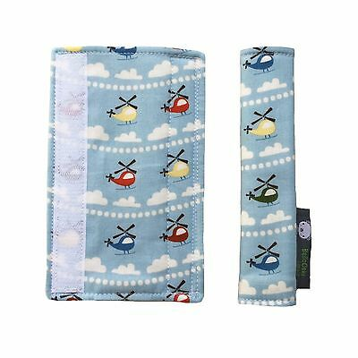 Boys Pushchair Strap Covers 4 Bugaboo Cameleon Quinny Zapp in Multi Helicopters