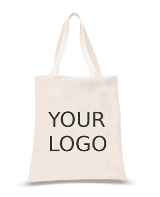 Custom Printed Cotton Bags ✅ Your Text / Logo ✅ Personalised ✅ Tote Bags lot