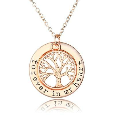 ROSE GOLD TREE OF LIFE Pendant Necklace Jewellery Fashion Chain Gift PD3