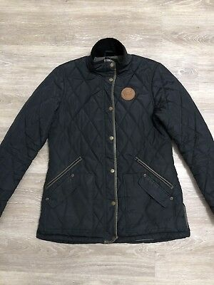 Horseware Black Polo Quilted Jacket Excellent Condition Size L (14)