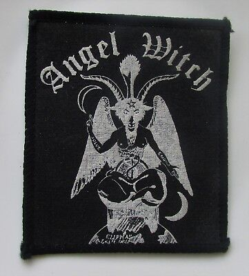 ANGEL WITCH  ORIGINAL VINTAGE SEW ON PATCH FROM 1980's  NEW OLD STOCK NWOBHM
