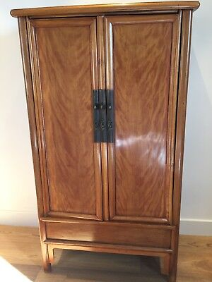 Tall Antique Ming Style Chinese Cabinet Chest possibly Jinsi Nanmu front panels