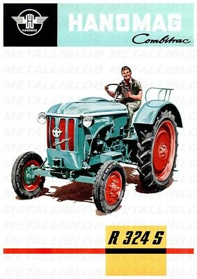 HANOMAG R 324 S Tractor Advertising - Poster (A3) - NEW