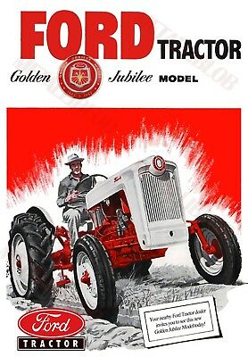 FORD Golden Jubilee Model 1903 - 1953 Tractor ~ Advertising Poster (A3)
