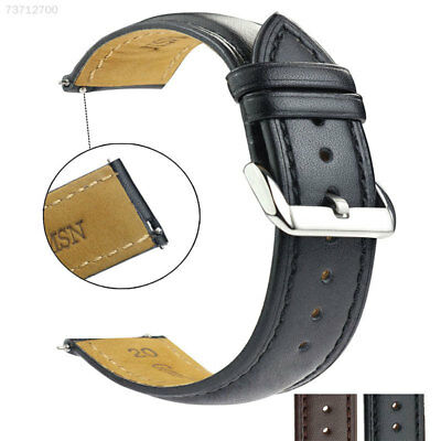 E702 Unisex 16/18/20/22mm Quick Release Watch Band Wrist Straps Leather