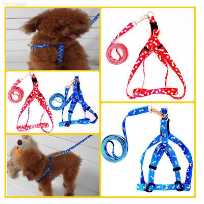 7150 Hot New Durable Adjustable Nylon Pet Small Dog Cat leash Harness Rope 5 Col
