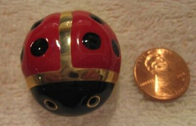 "Dots Amore! Adorable Ladybug Trinket Box, Metal, 1.5"" Long"