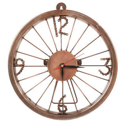Bicycle Wheel Clock made from Recycled Bicycle Chain free standing or wall clock