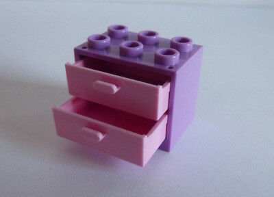 1 x LEGO ® 92410//4532//4536 Armoire /& tiroirs hell violet//rose 2x3x2