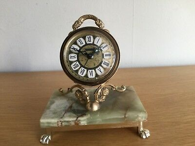 Vintage Blessing Clock with Alarm on Marble Base - Circa 1960 - West German.