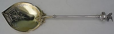 American Aesthetic Whiting Large Sterling Figural Bird & Ivy Server  C. 1870