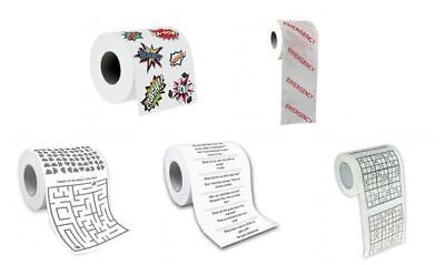 Humourous Novelty Joke Toilet Roll - Things to do whilst on the Loo!