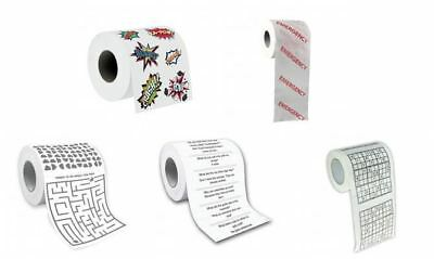 Humourous Toilet Roll - Things to do whilst on the Loo!