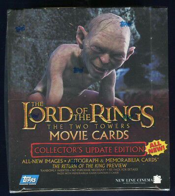 2003 Topps LOTR Rings Two Towers Factory Sealed Collector's Update Hobby Box (A)