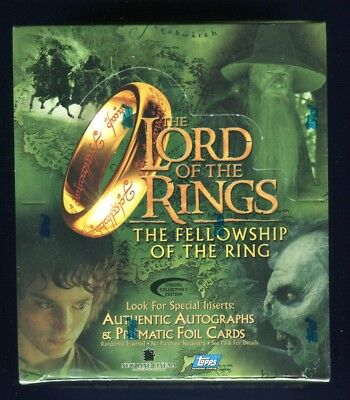2001 Topps LOTR Fellowship Collector's Edition Factory Sealed Hobby Box *C
