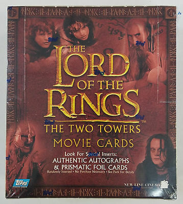 2002 Topps LOTR Lord Of The Rings Two Towers Retail Box (B)