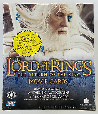 2003 Topps LOTR Lord Of The Rings Return Of The King 1st Edition Hobby Box (B)