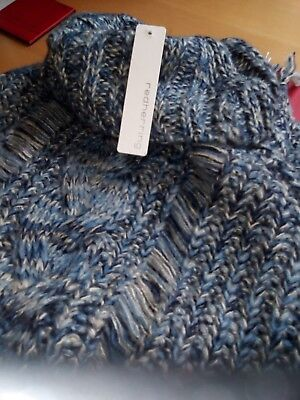 Gorgeous Chunky Knit Poncho from Red Herring Size L Jumper