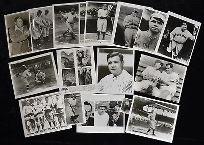 1970s Babe Ruth Baseball Photo Lot From Archive Modern Prints (17 pcs)