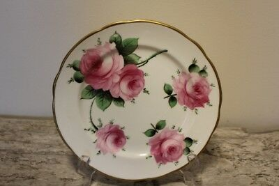 Cabbage Rose SALAD PLATE T. GOODE & CO LTD BONE CHINA - London England