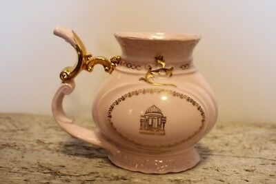 H&c Carlsbad Pink Porcelain 24K Gold Sipping Cup - Czechoslovakia