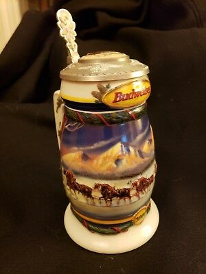 "Budweiser Stein 2000 ""Holiday In the Mountains"" New In Box"