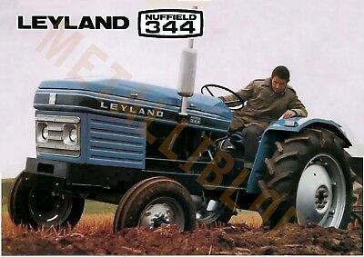 Leyland Nuffield 344 Tractor - Poster (A3)  - NEW PRICE