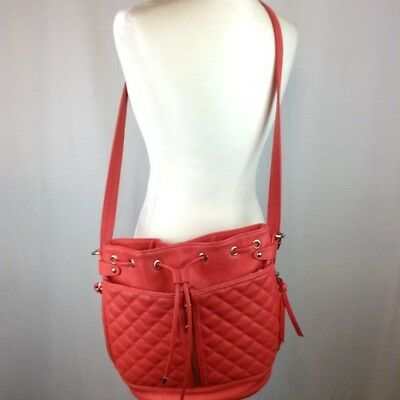 Steve Madden Red Orange Purse Side Front Zippers 21 99