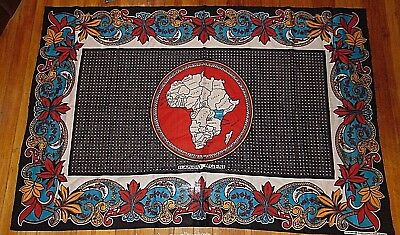 Map of Africa Fabric Panel