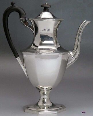 1910 Antique English Sterling Silver Georgian Style Coffee / Teapot