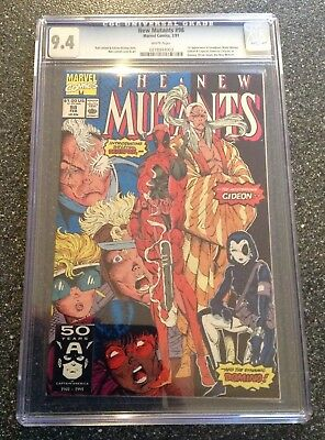 The New Mutants # 98 CGC 9.4 NM White Pages 1st Deadpool