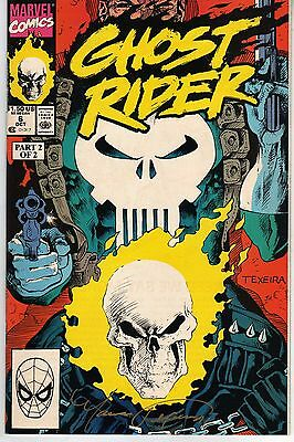 Ghost Rider #6 1990 Signed By Mark Texeira Very Fine